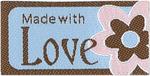 Made With Love - Flower - Iron-On Lovelabels 4/Pkg
