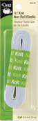 "White - Knit Non-Roll Elastic 3/8""X2yd"