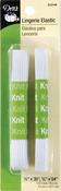 """White - Lingerie Elastic 1/2""""X30"""" & 3/8""""X54"""""""