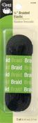"""Black - Braided Elastic 1/4""""X3yd"""