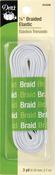 """White - Braided Elastic 1/4""""X3yd"""