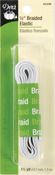 "White - Braided Elastic 1/2""X1-1/2yd"