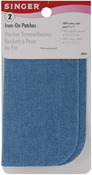 """Faded Blue - Iron-On Patches 5""""X5"""" 2/Pkg"""