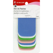 "Light Assortment - Iron-On Patches 2""X3"" 10/Pkg"