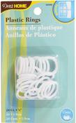 """White - Plastic Rings 3/4"""" 24/Pkg"""