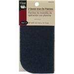 """Dark Blue Denim - Iron-On Patches 5""""X5"""" 2/Pkg"""