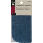 "Faded Blue - Iron-On Patches 5""X5"" 2/Pkg"