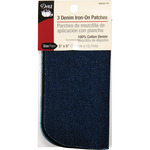 "Assorted Denim - Iron-On Patches 5""X5"" 3/Pkg"