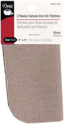 "Stone - Iron-On Heavy Canvas Patches 5""X5"" 2/Pkg"