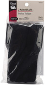 Black - Adult Knitted Cuffs 2/Pkg