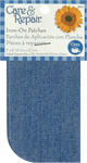 "Faded Denim - Iron-On Patches 5""X5"" 2/Pkg"