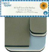 Assorted Colors - Twill Iron-On Patches 16/Pkg