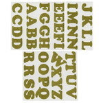 "Gold Metallic - Soft Flex Iron-On Letters 1.25"" Cooper"