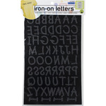"Black - Soft Flock Iron-On Letters 1"" Lemonade"