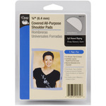 """White - 1/4"""" Covered All-Purpose Shoulder Pads 2/Pkg"""