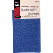 """Faded Blue - Denim Iron-On Patching Cloth 9""""X12"""" 1/Pkg"""