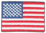 Small American Flags 2/Pkg - American Pride Decorative Patches