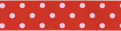 "Red - Polka Dot Grosgrain Ribbon 1-1/2""X9'"