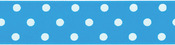 "Island Blue - Polka Dot Grosgrain Ribbon 1-1/2""X9'"