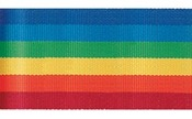 "Rainbow - Stripe Ribbon 5/8""X3yd"