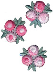 Pink & White Flowers - Wrights Iron-On Appliques 3/Pkg