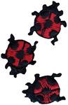 Ladybugs - Wrights Iron-On Appliques 3/Pkg