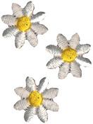 White Daisies - Wrights Iron-On Appliques 3/Pkg