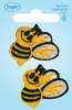 Bumblebees - Wrights Iron-On Appliques 2/Pkg WRIGHTS-Iron-On Applique. Iron-On Appliques are the perfect decorative addition to a wearable garment or a craft project. They come in a variety of sizes and styles. Great for towels, blankets, pillows, purses, scrapbooks, backpacks, aprons, jackets, pants, t- shirts, costumes, baby clothes and so much more! This package contains two 1-1/4x1-1/4in bee appliques. Not for use on delicate fabrics. Imported.