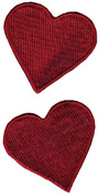 Red Hearts - Wrights Iron-On Appliques 2/Pkg