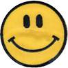 Yellow Happy Face - Wrights Iron-On Applique WRIGHTS-Iron-On Applique. Iron-On Appliques are the perfect decorative addition to a wearable garment or a craft project. They come in a variety of sizes and styles. Great for towels, blankets, pillows, purses, scrapbooks, backpacks, aprons, jackets, pants, t- shirts, costumes, baby clothes and so much more! This package contains one 1-7/8x1-7/8in smiley face applique. Not for use on delicate fabrics. Imported.