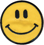 Yellow Happy Face - Wrights Iron-On Applique