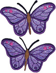 Iridescent Butterflies - Wrights Iron-On Appliques 2/Pkg