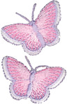 Butterflies - Wrights Iron-On Appliques 2/Pkg
