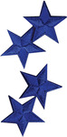Royal Stars - Wrights Iron-On Appliques 4/Pkg