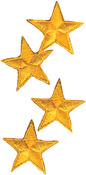 Yellow Stars - Wrights Iron-On Appliques 4/Pkg