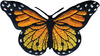 Monarch Butterfly - Wrights Iron-On Applique WRIGHTS-Iron-On Applique. Iron-On Appliques are the perfect decorative addition to a wearable garment or a craft project. They come in a variety of sizes and styles. Great for towels, blankets, pillows, purses, scrapbooks, backpacks, aprons, jackets, pants, t- shirts, costumes, baby clothes and so much more! This package contains one 1-1/2x3in monarch butterfly applique. Not for use on delicate fabrics. Imported.