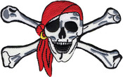 Pirate Skull - Wrights Iron-On Applique