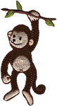 Monkey On Branch - Wrights Iron-On Applique
