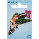 Hummingbird W/Flower - Simplicity Iron-On Applique