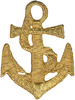 Gold Anchor - Wrights Iron-On Applique WRIGHTS-Iron-On Applique. Iron-On Appliques are the perfect decorative addition to a wearable garment or a craft project. They come in a variety of sizes and styles. Great for towels, blankets, pillows, purses, scrapbooks, backpacks, aprons, jackets, pants, t- shirts, costumes, baby clothes and so much more! This package contains one 2-1/4x1-5/8in anchor applique. Not for use on delicate fabrics. Imported.