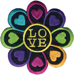 Love Flower - Wrights Iron-On Applique