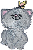 Cat W/Butterfly - Wrights Iron-On Applique