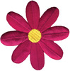 Fuchsia Retro Flower - Wrights Iron-On Applique WRIGHTS-Iron-On Applique. Iron-On Appliques are the perfect decorative addition to a wearable garment or a craft project. They come in a variety of sizes and styles. Great for towels, blankets, pillows, purses, scrapbooks, backpacks, aprons, jackets, pants, t- shirts, costumes, baby clothes and so much more! This package contains one 3x3in retro flower applique. Not for use on delicate fabrics. Imported.