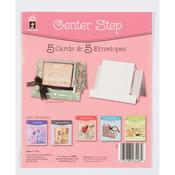 Center Step - Hot Off The Press Die-Cut Cards W/Envelopes 5/Pkg