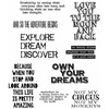 Life Quotes - Tim Holtz Cling Rubber Stamp Set