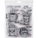Fresh Brewed Blueprint - Tim Holtz Cling Rubber Stamp Set