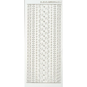 White Jewel Border - Dazzles Stickers