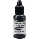 Black Tie - Ranger Pigment Ink Reinkers .5oz