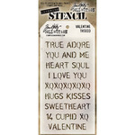 Valentine Tim Holtz Layered Stencil