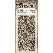 Scribbles Tim Holtz Layered Stencil